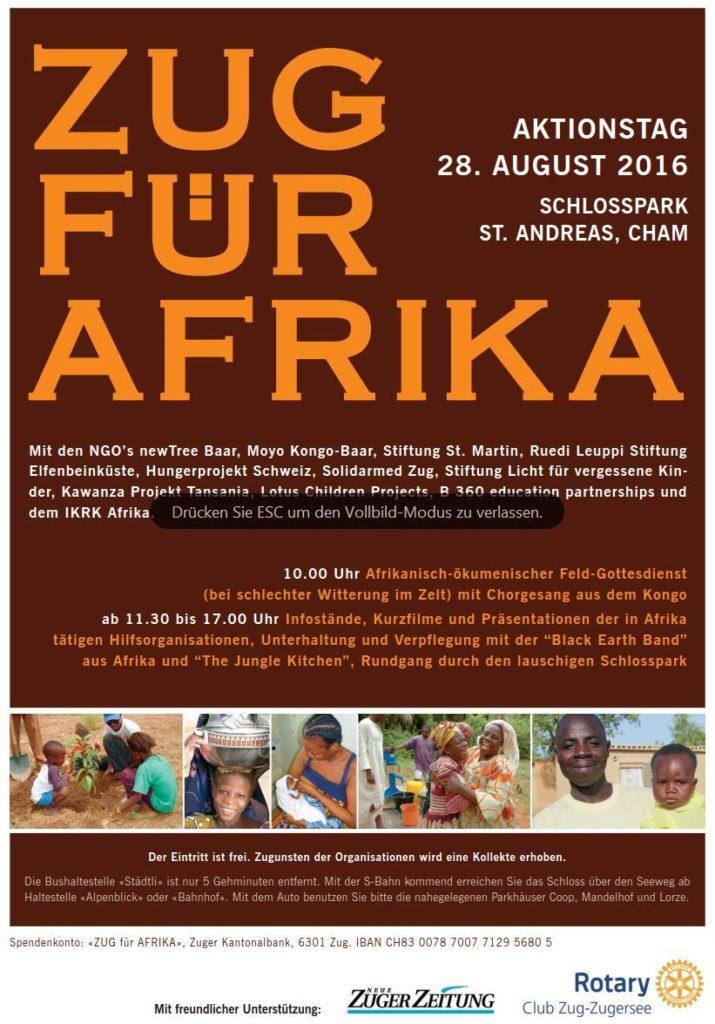 Flyer Zug für Afirka